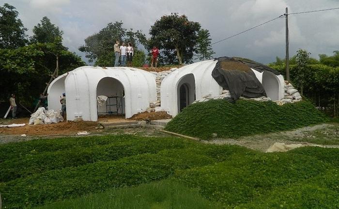 """Модульный дом """"а-ля хоббит"""", на строительство которого уйдёт всего 3 дня и 500 дол."""